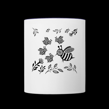 GIFT - HONEY BEE BLACK - Contrast Coffee Mug