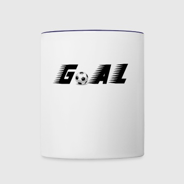 goal football sports play soccer - Contrast Coffee Mug