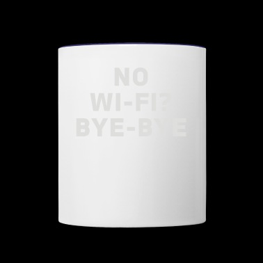 No Wifi Bye Bye - Contrast Coffee Mug
