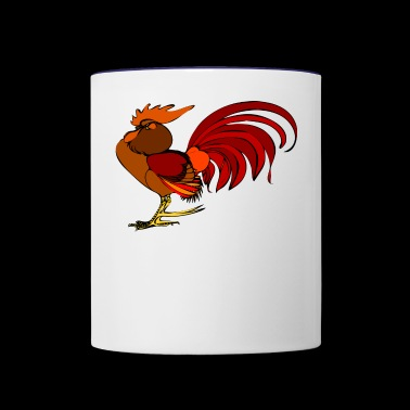 rooster - Contrast Coffee Mug