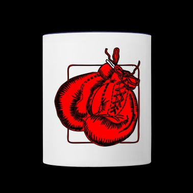 boxing gloves - Contrast Coffee Mug