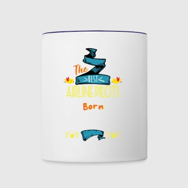 Best Airline Pilots are Born in January Gift Idea - Contrast Coffee Mug