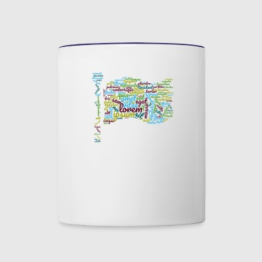 word typography - Contrast Coffee Mug