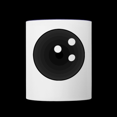 bowling ball - Contrast Coffee Mug