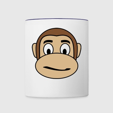 Thoughtful Monkey - Contrast Coffee Mug