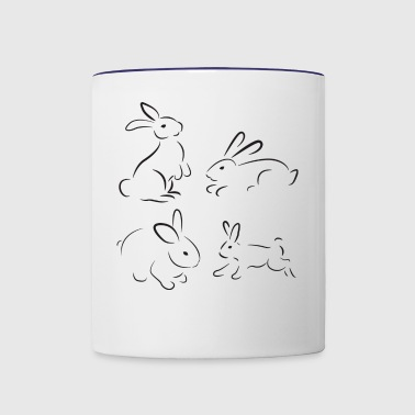rabbit eastern - Contrast Coffee Mug