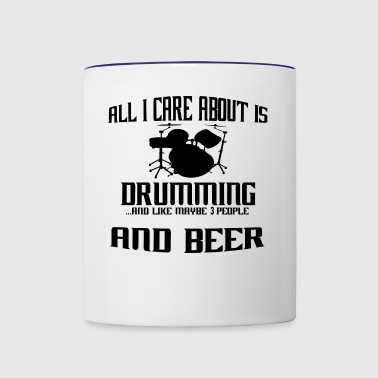All i care about is DRUMMER SCHLAGZEUG drums - Contrast Coffee Mug