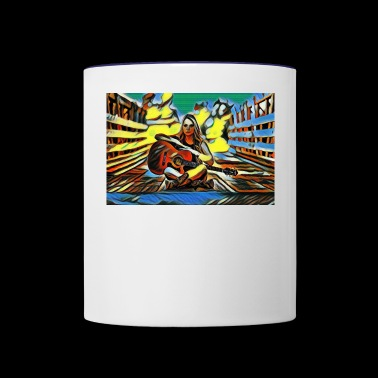 guitarist - Contrast Coffee Mug