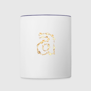 alphabet a - Contrast Coffee Mug