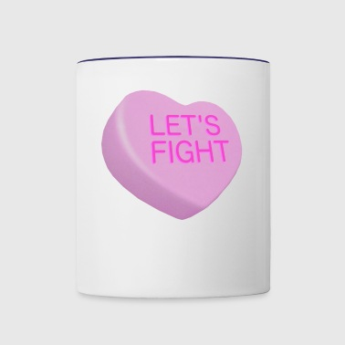 Let's Fight - Bad Candy Hearts - pink - Contrast Coffee Mug