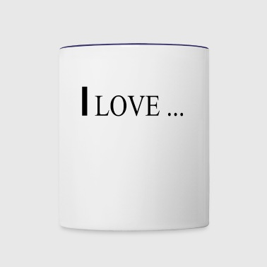 I love - Contrast Coffee Mug