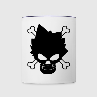 luffy skull - Contrast Coffee Mug