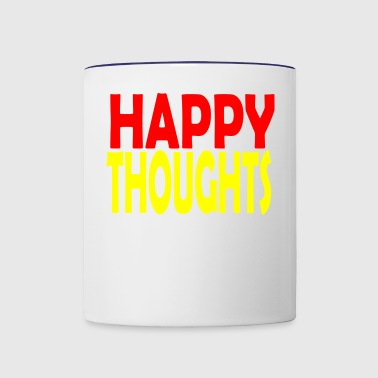 happy thoughts - Contrast Coffee Mug