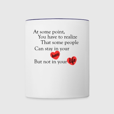 love quotes cool - Contrast Coffee Mug
