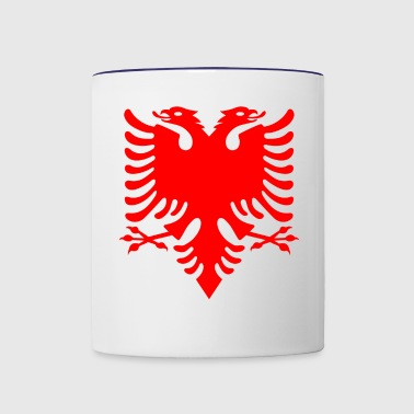 red albanian eagle shirt albanian symbol - Contrast Coffee Mug