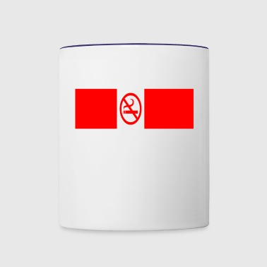 no smoking - Contrast Coffee Mug