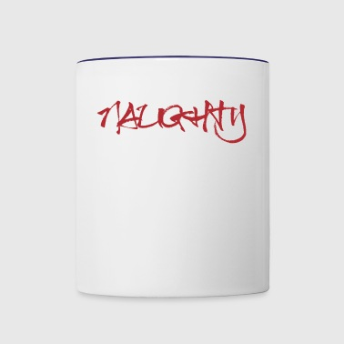 Naughty - Contrast Coffee Mug