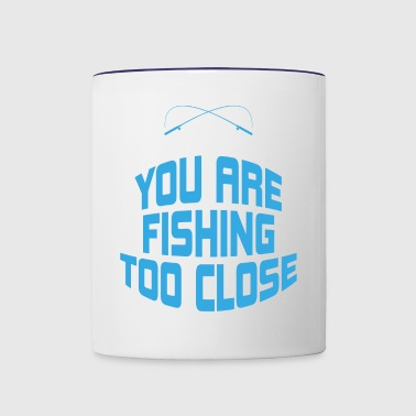 If You Can Read This You Are Fishing Too Close Gif - Contrast Coffee Mug