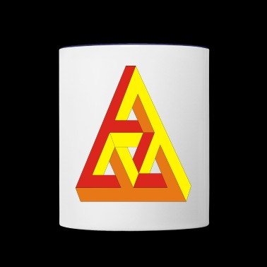 Triangle 3D - Contrast Coffee Mug