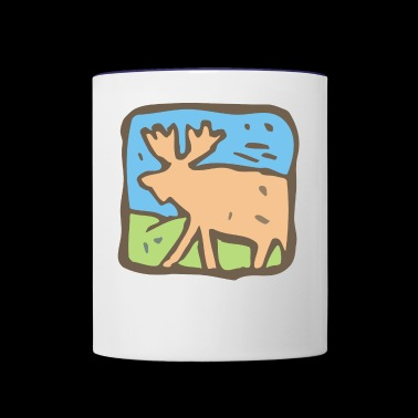 Moose - Contrast Coffee Mug