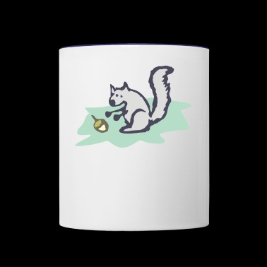 Squirrel - Contrast Coffee Mug