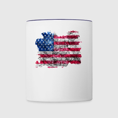 United States Vintage Flag - Contrast Coffee Mug
