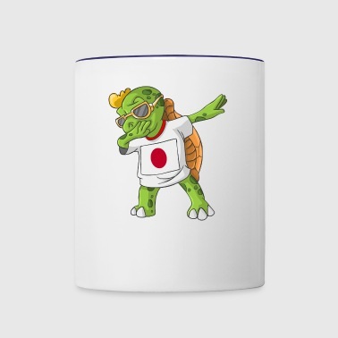 Japan Dabbing Turtle - Contrast Coffee Mug