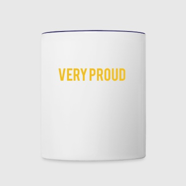 Very Black Very Proud - Contrast Coffee Mug