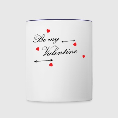 Be my Valentine / Gift Idea - Contrast Coffee Mug