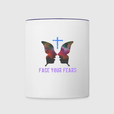 Face your fears - Contrast Coffee Mug