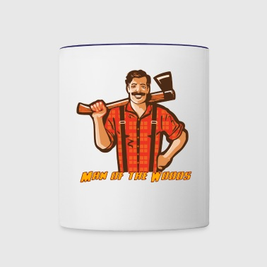 Man of the Woods - Woodland Guy - Contrast Coffee Mug