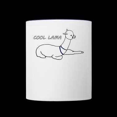 COOL lama - Contrast Coffee Mug