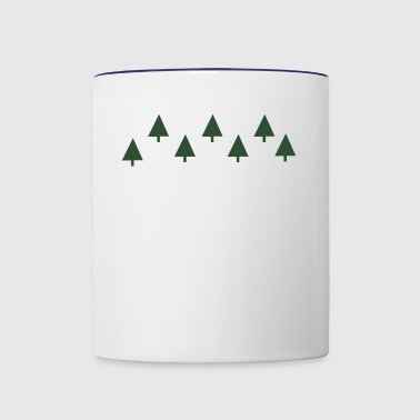 The green tree - Contrast Coffee Mug