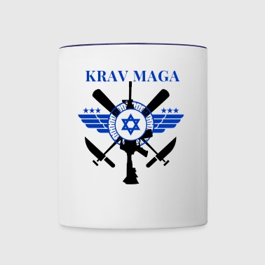 Krav Maga - Sticks Knives Guns - Contrast Coffee Mug