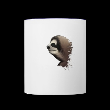 the coolest grungy sloth grunge sloth-lovers gift - Contrast Coffee Mug