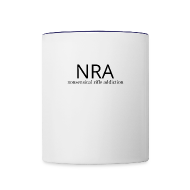 NRA Nonsensical Rifle Addiction   Contrast Coffee Mug