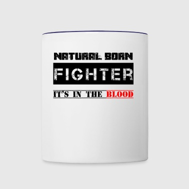 NATURAL BORN FIGHTER - Contrast Coffee Mug