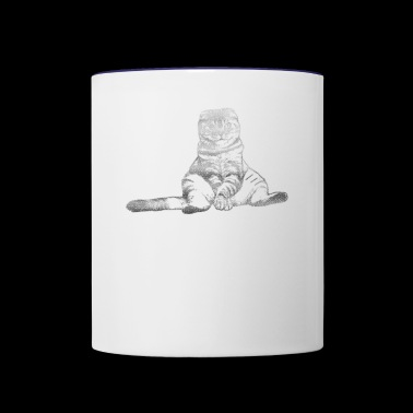 Sitting Cat - Contrast Coffee Mug