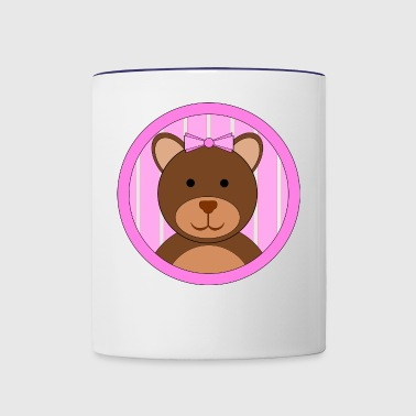 Teddy Bear Girl - Contrast Coffee Mug