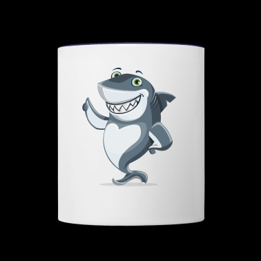 amusing shark - Contrast Coffee Mug