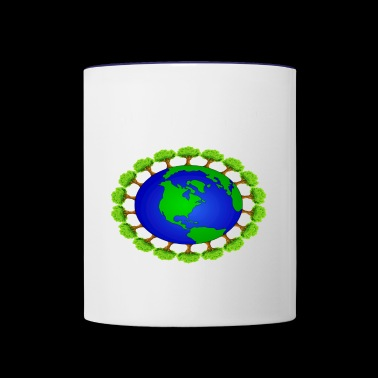 global warming - Contrast Coffee Mug