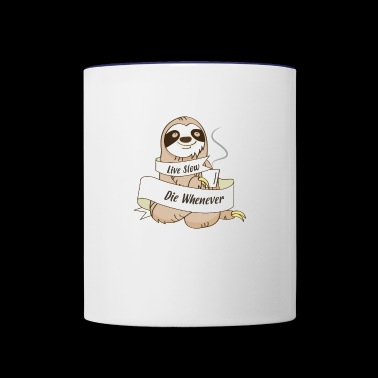 Sloth Wisdom - Contrast Coffee Mug