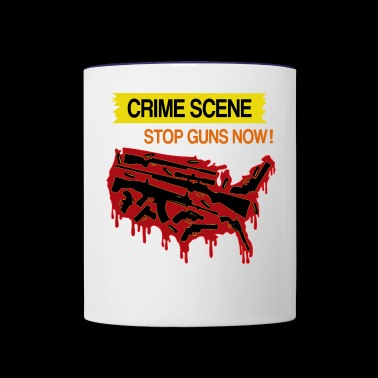 USA Crime scene - Stop guns now! - Contrast Coffee Mug