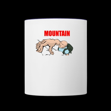 mountain climbing - Contrast Coffee Mug