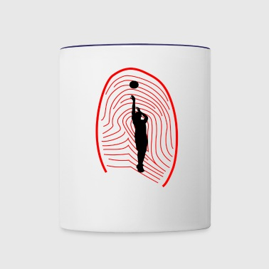 basket ball - Contrast Coffee Mug