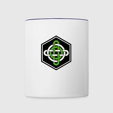 celtic knot nordic cube - Contrast Coffee Mug