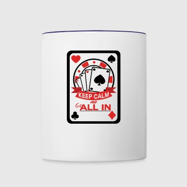 Poker All in es ist dein Pot - Contrast Coffee Mug