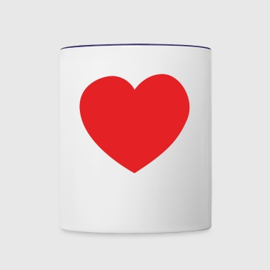 Big heart - Contrast Coffee Mug