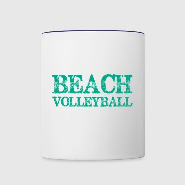 Todays Good Mood Proud Sponsored Beach Volleyball - Contrast Coffee Mug