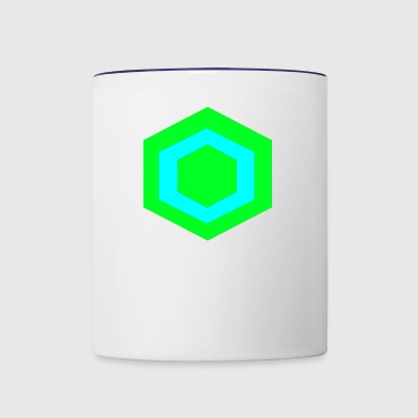 hexagon - Contrast Coffee Mug